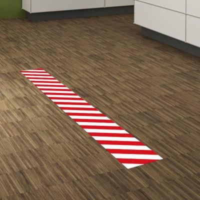 Fußbodenaufkleber lang