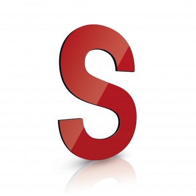Einzelbuchstaben Alu-Dibond Farbig