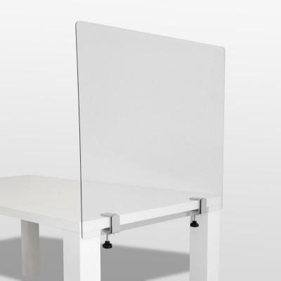 Hygieneschutzwand  für Tische geklemmt individuelles Format
