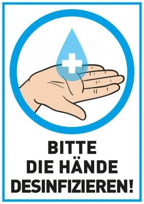 Hinweisschild Handdesinfektion