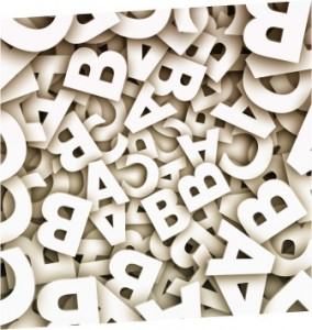 Wandbuchstaben